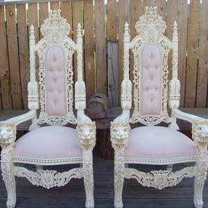Throne High Back Chair Rental
